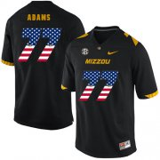 Wholesale Cheap Missouri Tigers 77 Paul Adams Black USA Flag Nike College Football Jersey