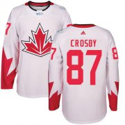 Wholesale Cheap Team Canada #87 Sidney Crosby White 2016 World Cup Stitched Youth NHL Jersey