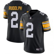 Wholesale Cheap Nike Steelers #2 Mason Rudolph Black Alternate Men's Stitched NFL Vapor Untouchable Limited Jersey