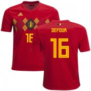 Wholesale Cheap Belgium #16 Defour Home Kid Soccer Country Jersey
