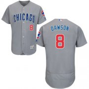 Wholesale Cheap Cubs #8 Andre Dawson Grey Flexbase Authentic Collection Road Stitched MLB Jersey