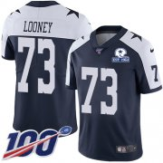 Wholesale Cheap Nike Cowboys #73 Joe Looney Navy Blue Thanksgiving Men's Stitched With Established In 1960 Patch NFL 100th Season Vapor Untouchable Limited Throwback Jersey