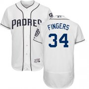 Wholesale Cheap Padres #34 Rollie Fingers White Flexbase Authentic Collection Stitched MLB Jersey