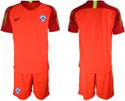 Wholesale Cheap Chile Blank Red Goalkeeper Soccer Country Jersey
