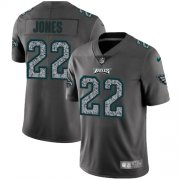 Wholesale Cheap Nike Eagles #22 Sidney Jones Gray Static Men's Stitched NFL Vapor Untouchable Limited Jersey