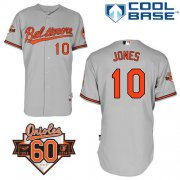 Wholesale Cheap Orioles #10 Adam Jones Grey Cool Base Stitched MLB Jersey