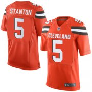 Wholesale Cheap Nike Browns #5 Drew Stanton Jr Orange Alternate Men's Stitched NFL New Elite Jersey