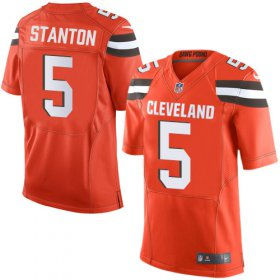 Wholesale Cheap Nike Browns #5 Drew Stanton Jr Orange Alternate Men\'s Stitched NFL New Elite Jersey