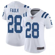 Wholesale Cheap Nike Colts #28 Marshall Faulk White Women's Stitched NFL Vapor Untouchable Limited Jersey