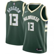 Cheap Youth Milwaukee Bucks #13 Malcolm Brogdon Green Basketball Swingman Icon Edition Jersey