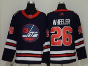 Wholesale Cheap Adidas Jets #26 Blake Wheeler Navy Blue Authentic 2019 Heritage Classic Stitched NHL Jersey