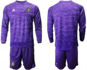 Wholesale Cheap Germany Blank Purple Goalkeeper Long Sleeves Soccer Country Jersey
