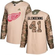 Wholesale Cheap Adidas Red Wings #41 Luke Glendening Camo Authentic 2017 Veterans Day Stitched NHL Jersey