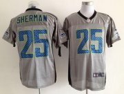 Wholesale Cheap Nike Seahawks #25 Richard Sherman Grey Shadow Men's Stitched NFL Elite Jersey