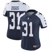 Wholesale Cheap Nike Cowboys #31 Trevon Diggs Navy Blue Thanksgiving Women's Stitched NFL Vapor Throwback Limited Jersey