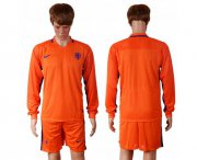 Wholesale Cheap Holland Blank Home Long Sleeves Soccer Country Jersey