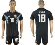 Wholesale Cheap Argentina #18 Salvio Away Soccer Country Jersey