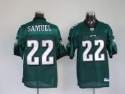Wholesale Cheap Eagles Asante Samuel #22 Stitched Green NFL Jersey