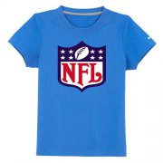 Wholesale Cheap NFL Logo Youth T-Shirt Light Blue