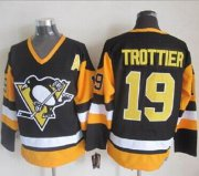 Wholesale Penguins #19 Bryan Trottier Black CCM Throwback Stitched NHL Jersey