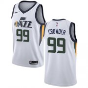 Wholesale Cheap Nike Jazz #99 Jae Crowder White NBA Swingman Association Edition Jersey