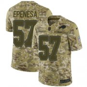 Wholesale Cheap Nike Bills #57 A.J. Epenesas Camo Men's Stitched NFL Limited 2018 Salute To Service Jersey