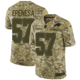 Wholesale Cheap Nike Bills #57 A.J. Epenesas Camo Men\'s Stitched NFL Limited 2018 Salute To Service Jersey