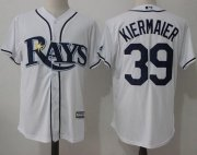 Wholesale Cheap Rays #39 Kevin Kiermaier White New Cool Base Stitched MLB Jersey