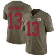 Wholesale Cheap Nike Giants #13 Odell Beckham Jr Olive Men's Stitched NFL Limited 2017 Salute to Service Jersey