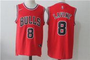 Wholesale Cheap Chicago Bulls 8 Zach LaVine Red Nike Stitched Jersey