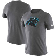 Wholesale Cheap Carolina Panthers Nike Essential Logo Dri-FIT Cotton T-Shirt Heather Charcoal
