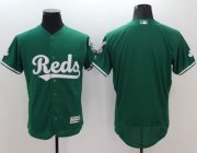Wholesale Reds Blank Green Celtic Flexbase Authentic Collection Stitched Baseball Jersey
