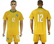Wholesale Cheap Cote d'lvoire #12 Bony Home Soccer Country Jersey