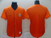 Wholesale Cheap Nike Giants Blank Orange Fade Authentic Stitched MLB Jersey