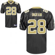 Wholesale Cheap Saints #28 Mark Ingram Black Stitched NFL Jersey