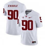 Wholesale Cheap Washington State Cougars 90 Daniel Ekuale White College Football Jersey