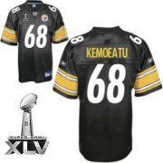 Wholesale Cheap Steelers #68 Chris Kemoeatu Black Super Bowl XLV Stitched NFL Jersey