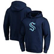 Wholesale Cheap Seattle Kraken Primary Logo Pullover Hoodie Navy