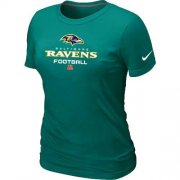 Wholesale Cheap Women's Nike Baltimore Ravens Critical Victory NFL T-Shirt Light Green