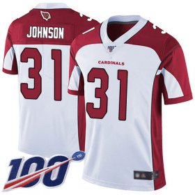 Wholesale Cheap Nike Cardinals #31 David Johnson White Men\'s Stitched NFL 100th Season Vapor Limited Jersey