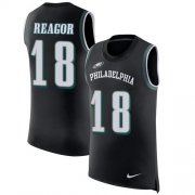 Wholesale Cheap Nike Eagles #18 Jalen Reagor Black Alternate Men's Stitched NFL Limited Rush Tank Top Jersey