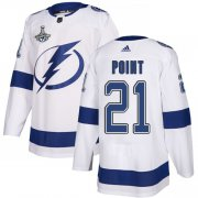 Cheap Adidas Lightning #21 Brayden Point White Road Authentic Youth 2020 Stanley Cup Champions Stitched NHL Jersey