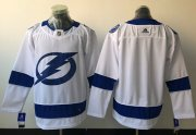 Wholesale Cheap Adidas Lightning Blank White Road Authentic Stitched NHL Jersey