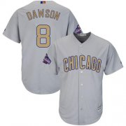 Wholesale Cheap Cubs #8 Andre Dawson Grey 2017 Gold Program Cool Base Stitched MLB Jersey