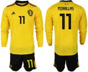 Wholesale Cheap Belgium #11 Mirallas Away Long Sleeves Soccer Country Jersey
