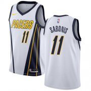 Wholesale Cheap Nike Pacers #11 Domantas Sabonis White NBA Swingman Earned Edition Jersey