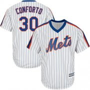 Wholesale Cheap Mets #30 Michael Conforto White(Blue Strip) Alternate Cool Base Stitched Youth MLB Jersey