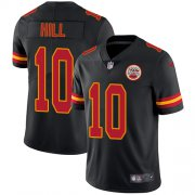 Wholesale Cheap Nike Chiefs #10 Tyreek Hill Black Men's Stitched NFL Limited Rush Jersey