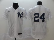 Wholesale Cheap New York Yankees #24 Gary Sanchez Men's Nike White Navy Home 2020 Authentic Player MLB Jersey