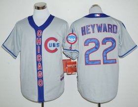 Wholesale Cheap Cubs #22 Jason Heyward Grey Cooperstown Stitched MLB Jersey